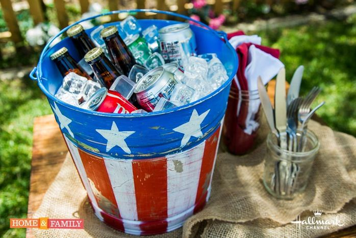 Image result for july 4th crafts buckets