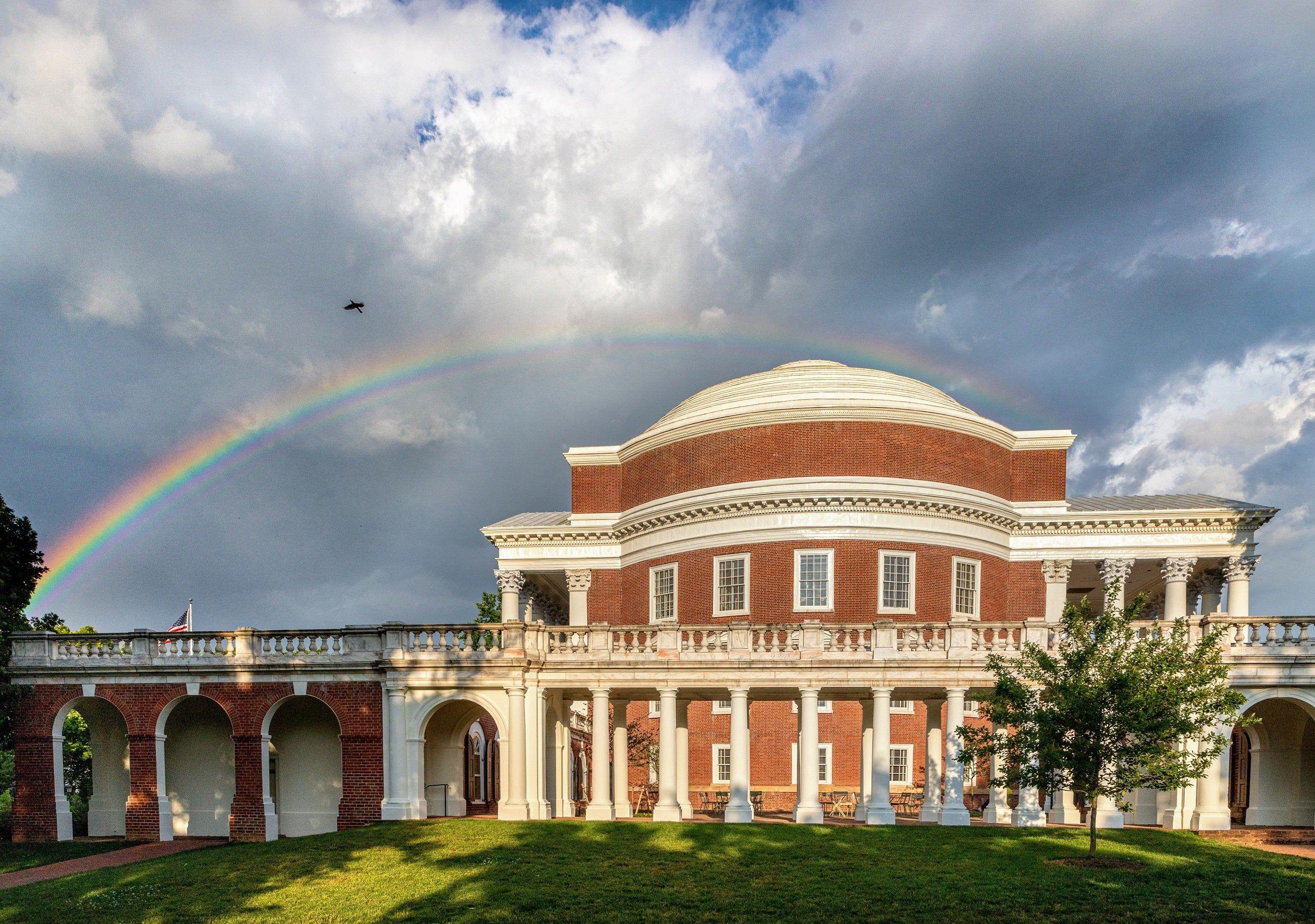 Uva Rotunda Rainbow Picture 5x7 Matted Photo Uva Etsy In 2020 Rainbow Pictures University Of Virginia Virginia Fall