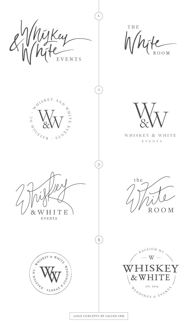 New Brand Launch Whiskey \ White Events Logo concepts by Salted - event planner resume