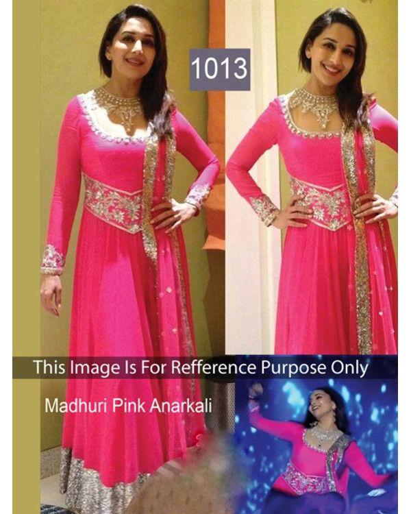 584936b819 New Bollywood Designer Madhuri Dixit Pink salwar suit | Stuff to Buy ...