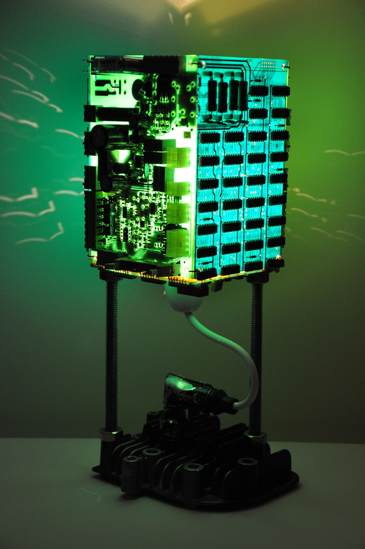 syntax lamp upcycled circuit board lamp diy and learn diy light rh pinterest com