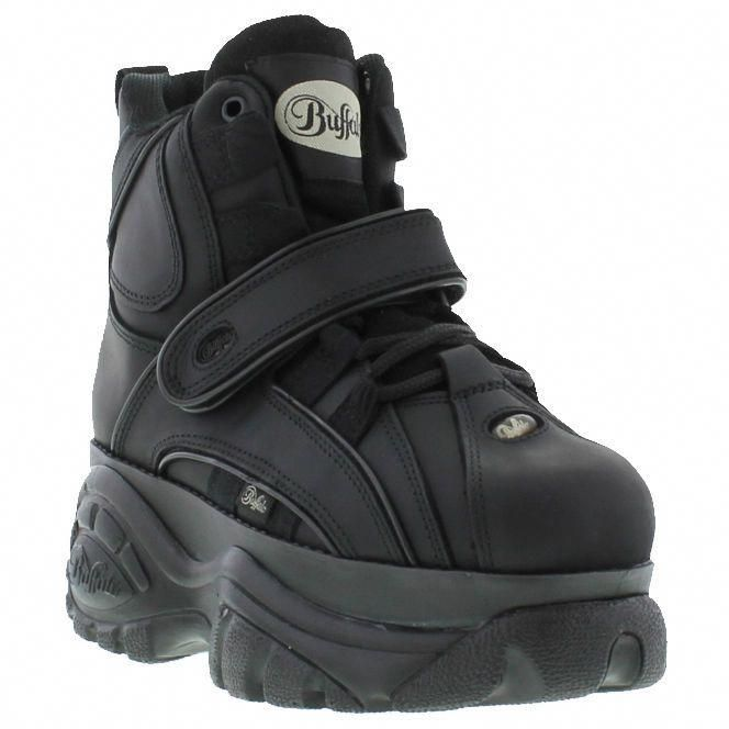 ee3870c53ddc New Buffalo Classic Boots 1348-14 BLACK Platform Shoes   Trainers Sizes UK  3-8  Amazon.co.uk  Shoes   Bags