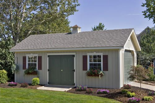 Garden Sheds Menards 14 x 24 keystone garage w/floor precut kit at menards