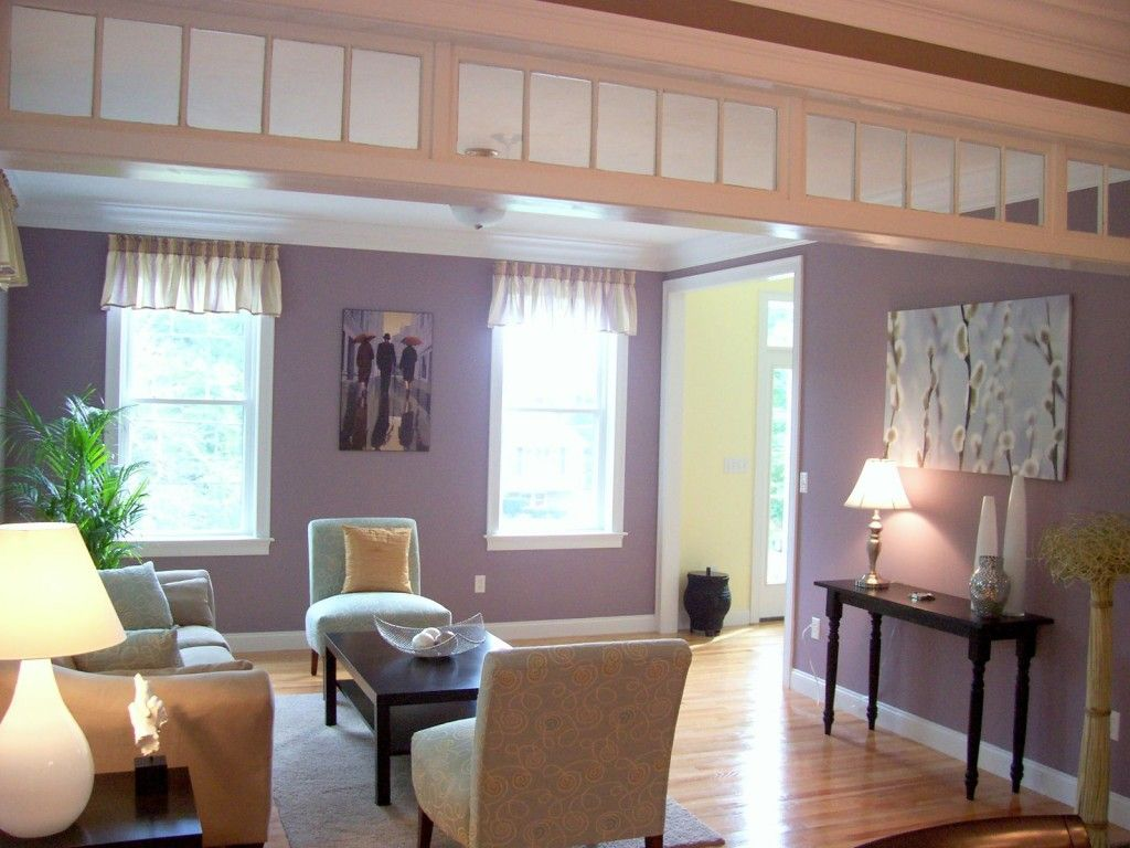Light Purple Living Room Walls Furniture Atlanta Ga Rooms Photo Home Decor Design Interior