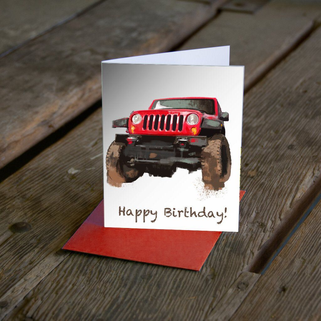 Excited To Share This Item From My Etsy Shop Jeep Father S Day Card Grad Card Or Any Occasion Jeep Card Cus Cards For Boyfriend Grad Cards Birthday Cards