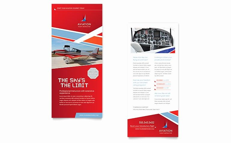 Rack Card Template Microsoft Word Elegant Aviation Flight Instructor Rack Card Template Word Rack Cards Design Rack Card Templates Rack Card