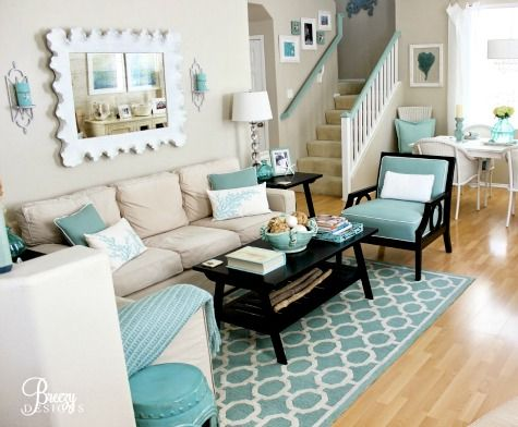 12 Small Coastal Living Room Decor Ideas With Great Style Beach Theme Living Room Beach Living Room Coastal Decorating Living Room