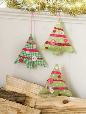The Pursuit Of Happiness Festive Stuffed Christmas Trees Christmas Sewing Patterns Christmas Sewing Projects Fabric Christmas Trees