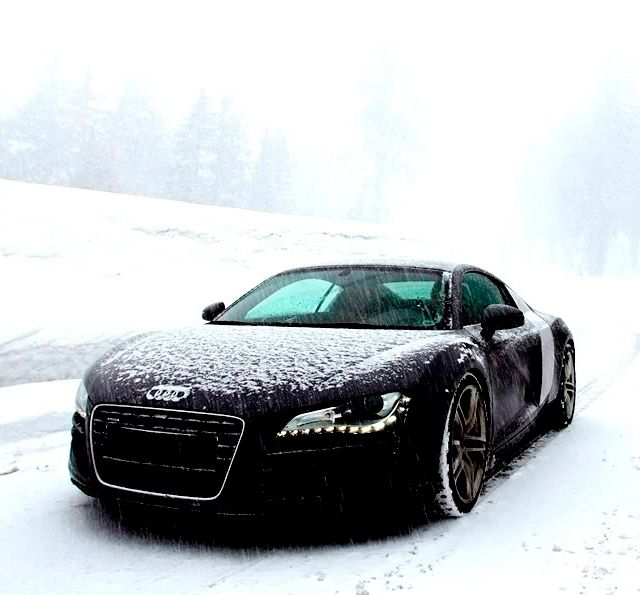 Good Cars For Snow: Audi R8..putting This In Men's Fashion Because This Would