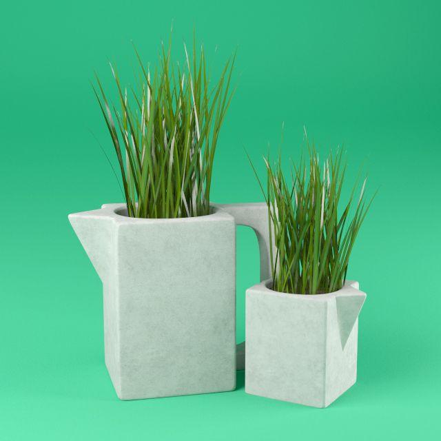 Free 3D model: Beton vase. http://www.lensdor.com/beton-vase/