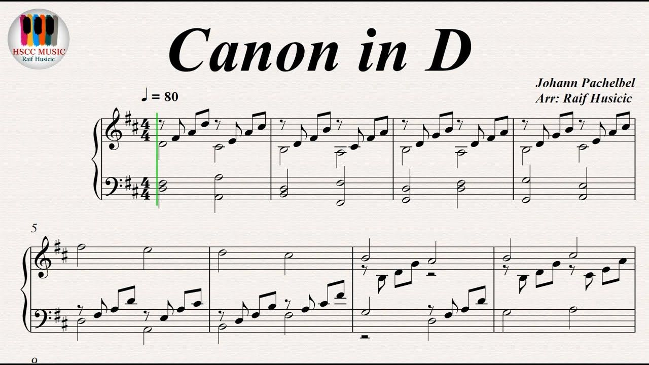 Canon In D Johann Pachelbel Piano Piano Youtube Piano Music