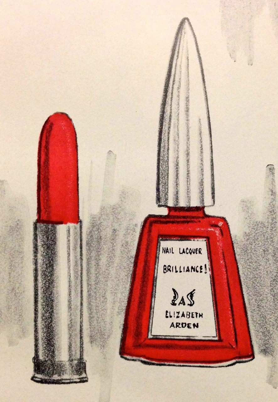Elizabeth Arden \'Brilliance\' Lipstick & Nail Lacquer, 1965 ...