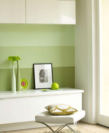 Wandgestaltung: Streifendesign für die Wände - Wohnen & Garten ...