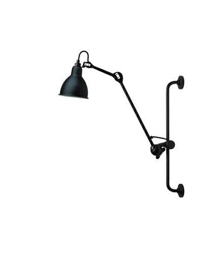 210 Vegglampe Svart/Sateng - Lampe Gras