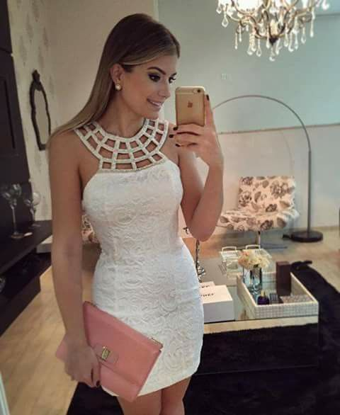 Finos Vestidos Moda De Blancos Midi Coctel Zgw8Yqg