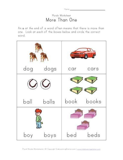 And Plural Worksheets For Kindergarten Scalien – Plural Worksheets for Kindergarten