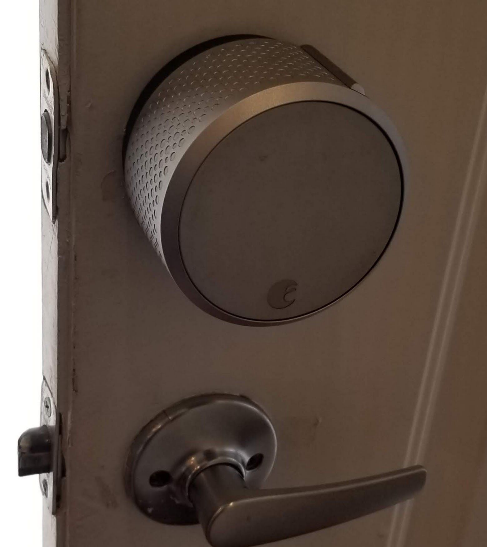August Smart Lock Installed Today Http Dylocksmith Com When You Moving August Smart Lock Smart Lock Works With Alexa