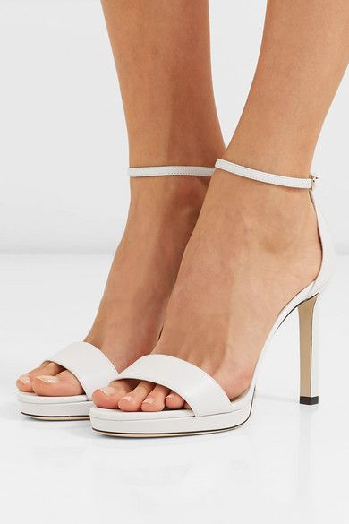 fd7ea5e3da Jimmy Choo - Misty 100 leather platform sandals in 2019 | Style ...