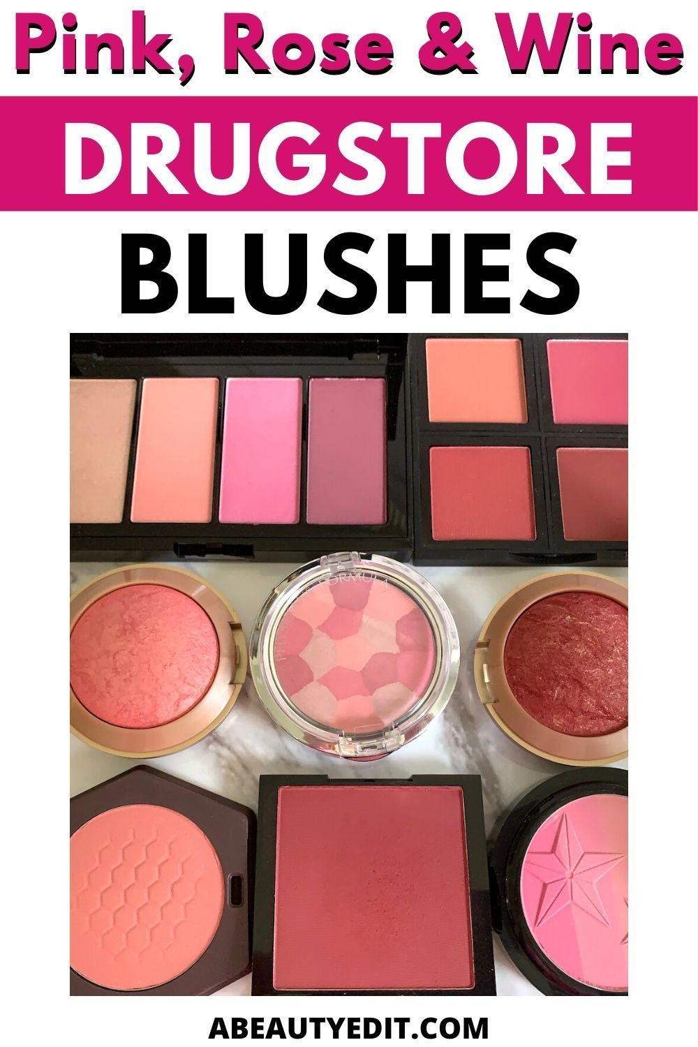Pink Rose And Wine Drugstore Blushes A Beauty Edit In 2020 Drugstore Blush Blush Hard Candy Makeup