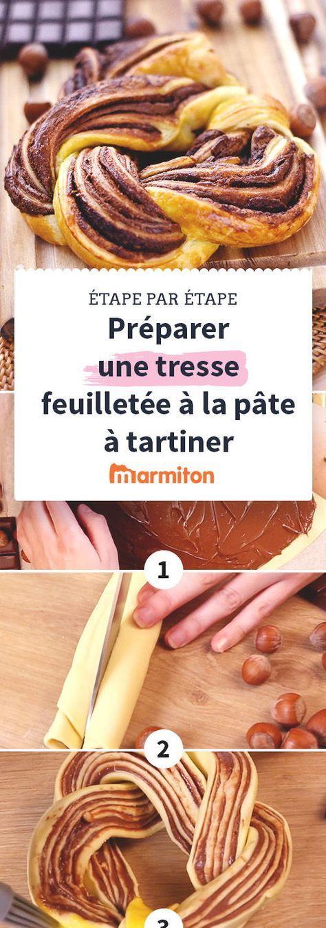 Tresse Feuilletee A La Pate A Tartiner Recette Recette Facile Recette Recettes De Cuisine