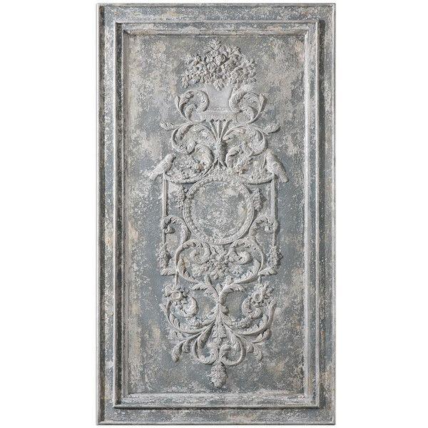 Oversized Stone Gray Wall Art (21060 UYU) ❤ liked on Polyvore