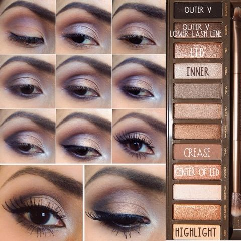 Urban decay naked 2 makeup tutorial by lesmess123 | naked 2.