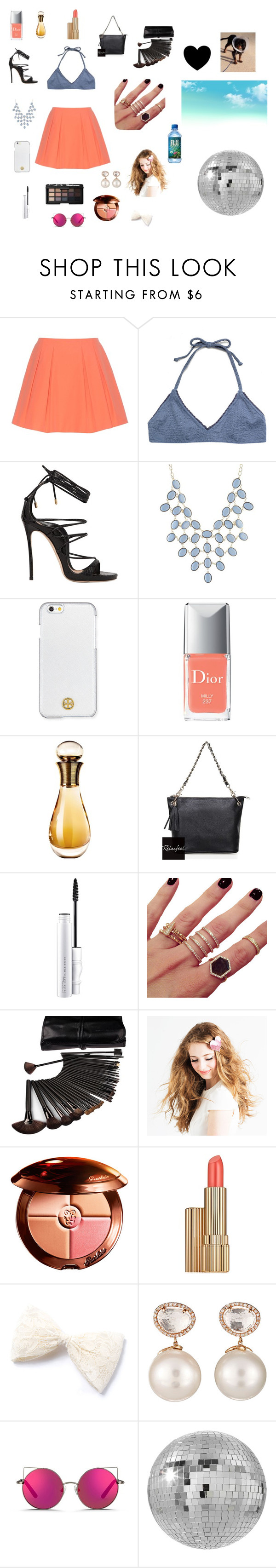"""disco dog:)"" by aubreyjcason ❤ liked on Polyvore featuring Alice + Olivia, Made By Dawn, Dsquared2, Charlotte Russe, Tory Burch, Christian Dior, Relaxfeel, MAC Cosmetics, Melanie Auld and NARS Cosmetics"