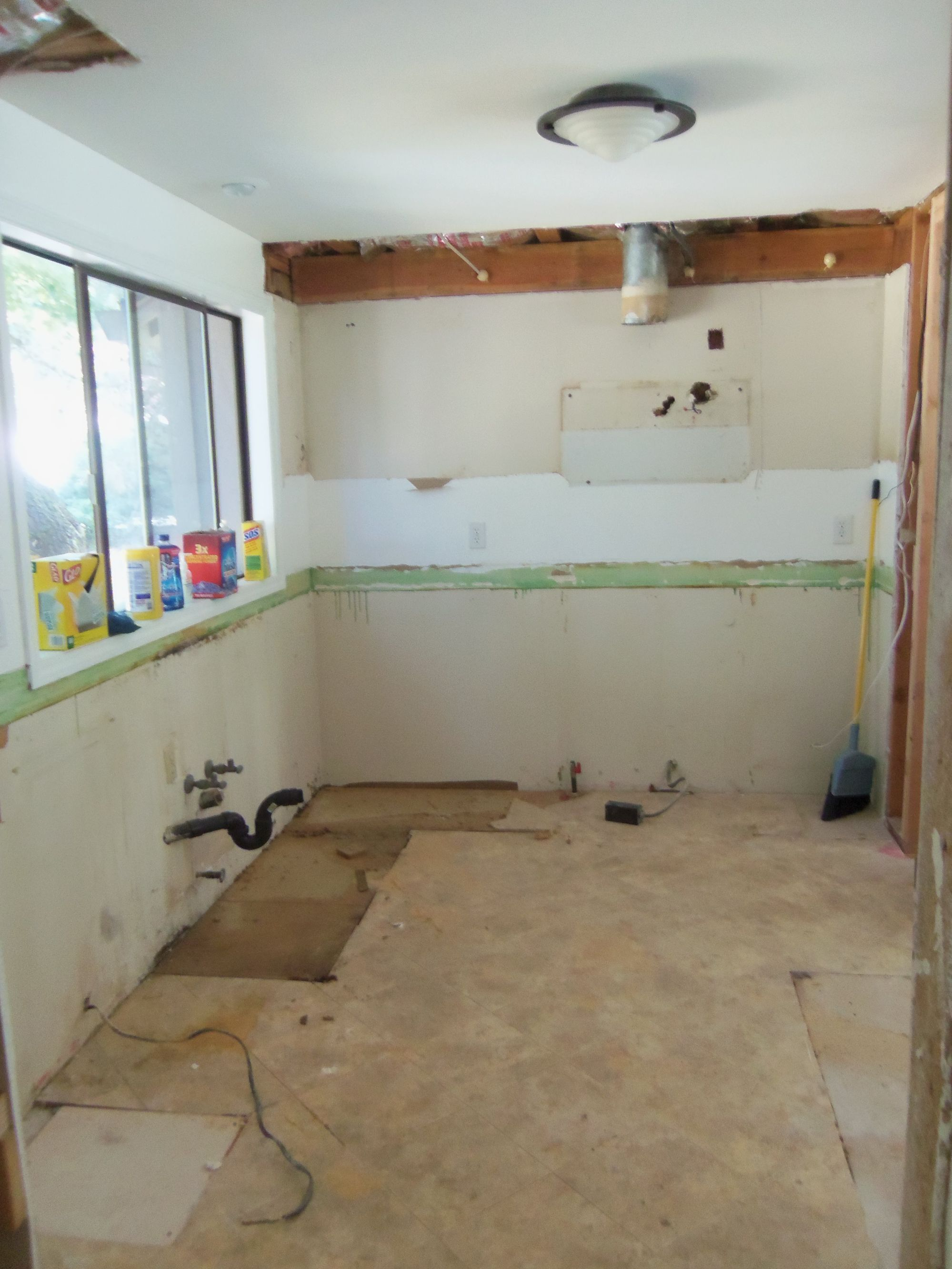 Kitchen is empty and ready for wiring. Empty, Kitchen Remodeling, Kitchens,  Updated