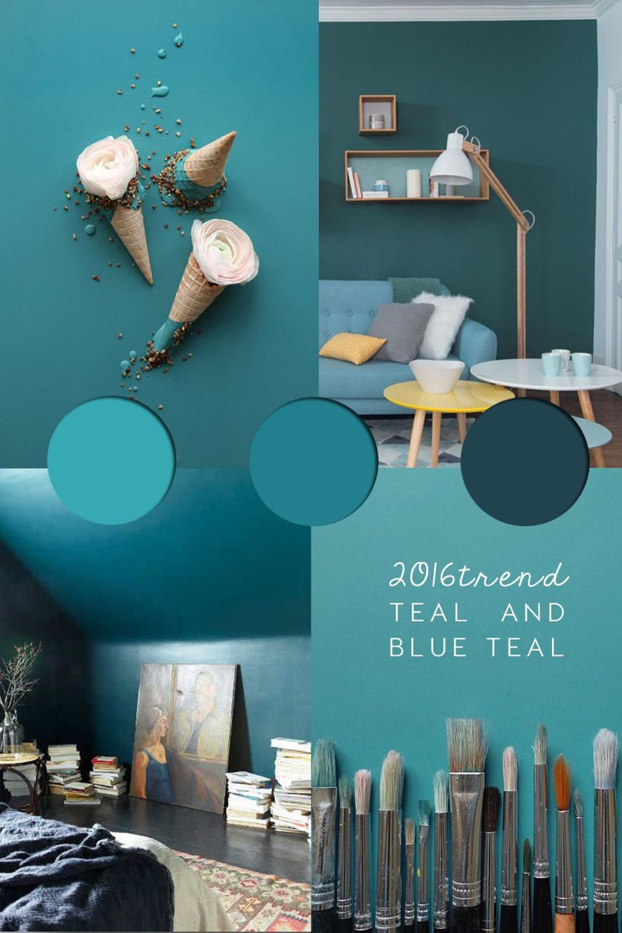 Teal colour trend 2016 - teal paint ideas, inspirations and ...