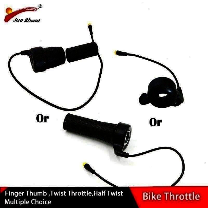 48V Finger Thumb Twist Throttle E Bike Speed Throttles Electric Bicycle Hub Motor Parts Sale bicycle Ebike Electric Bicycle Throttle 36V 48V Finger Thumb Twist Throttle E...