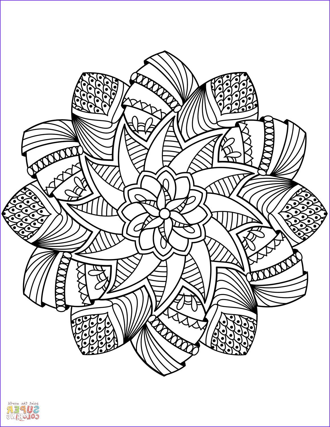 9 Luxury Mandela Adult Coloring Books Collection Printable