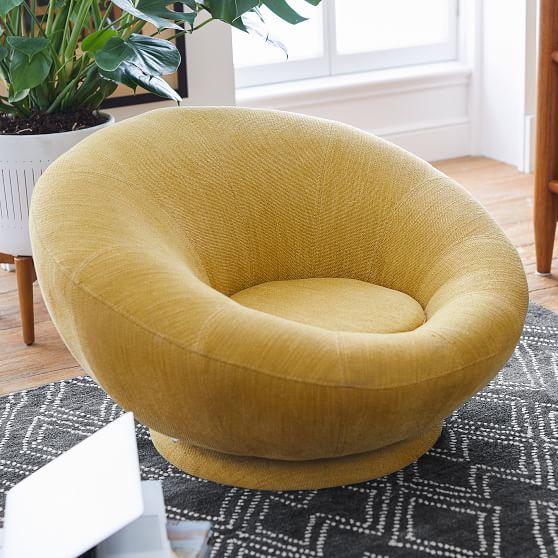 West Elm X Pbt Groovy Swivel Chair Modern Swivel Chair Swivel Chair Lounge Seating
