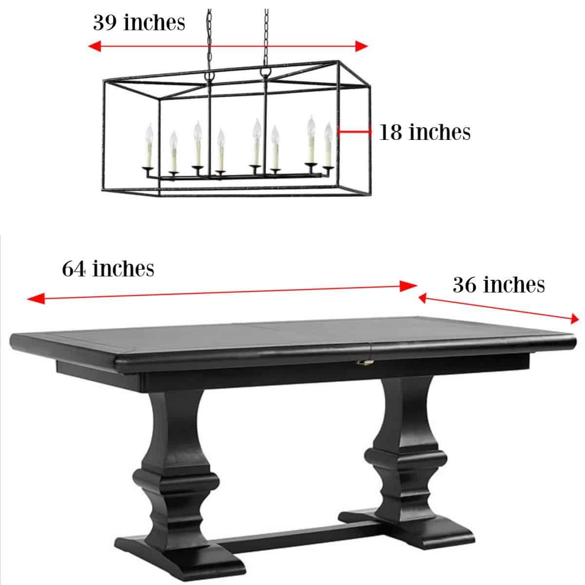 Chandelier Size Guide How Big Should My Chandelier Be Design Morsels Lights Over Dining Table Long Dining Room Tables Dining Table Guide