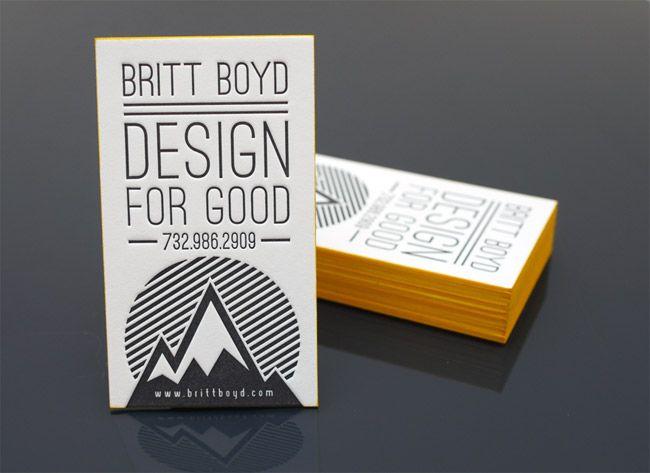 45. Design For Good Letterpress Business Cards