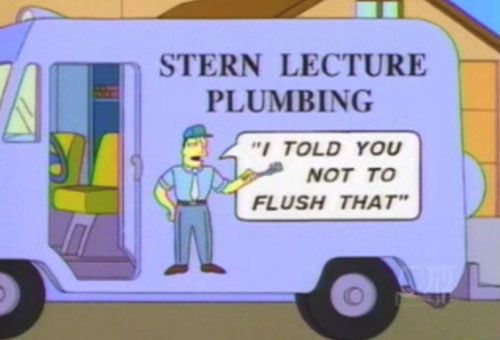 This Condescending Plumber S Van The Simpsons Funny Signs