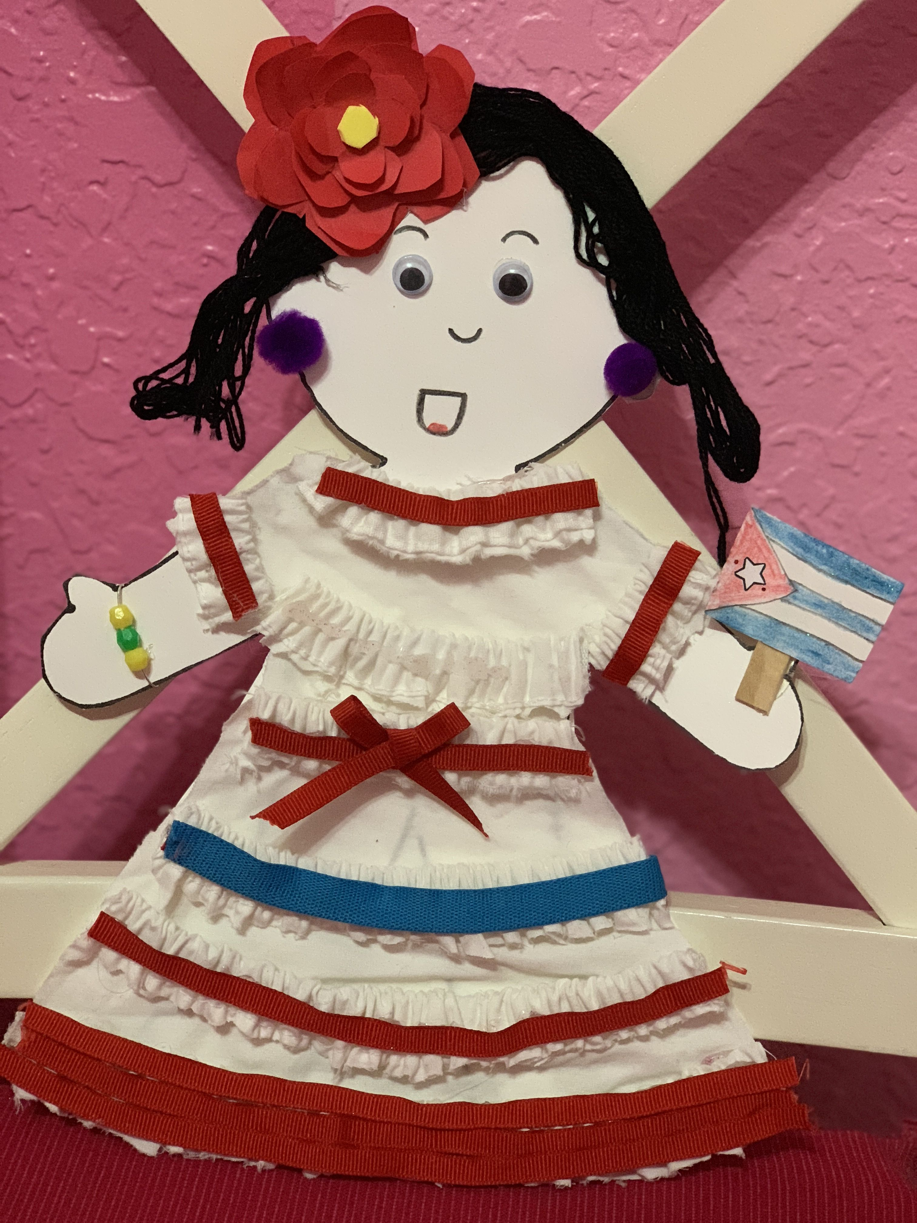 Cuban Hispanic Heritage Doll