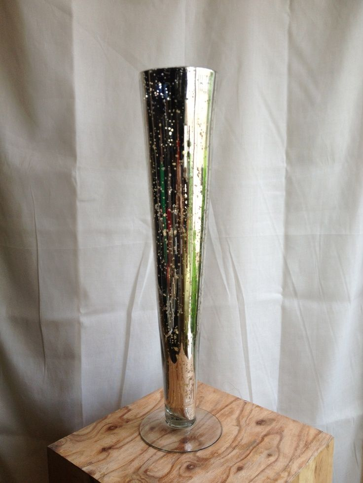 Tall Mercury Glass Vase Google Search Yezzi Wedding Pinterest