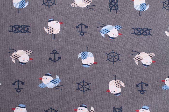 9f6b9a5007be Bavlněný úplet s námořnickým vzorem 6459 54 - Terry móda