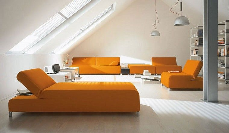 Colores calidos para el salón 50 ideas impresionantes Sofá de - colores calidos para salas