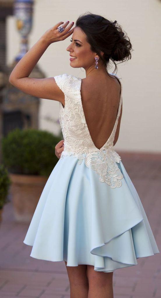 de9032b1c05 Красивое бело-голубое платье