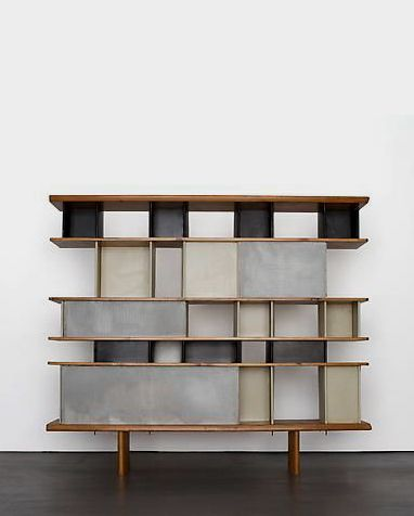 Charlotte perriand biblioth que c1950 interieur charlotte perriand furniture en - Bureau charlotte perriand ...