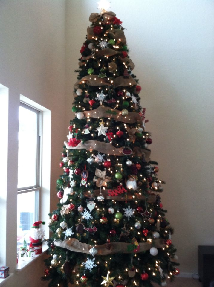 Our 12 Ft Christmas Tree Traditional Country Style 2014 12 Ft Christmas Tree Christmas Tree Holiday Decor
