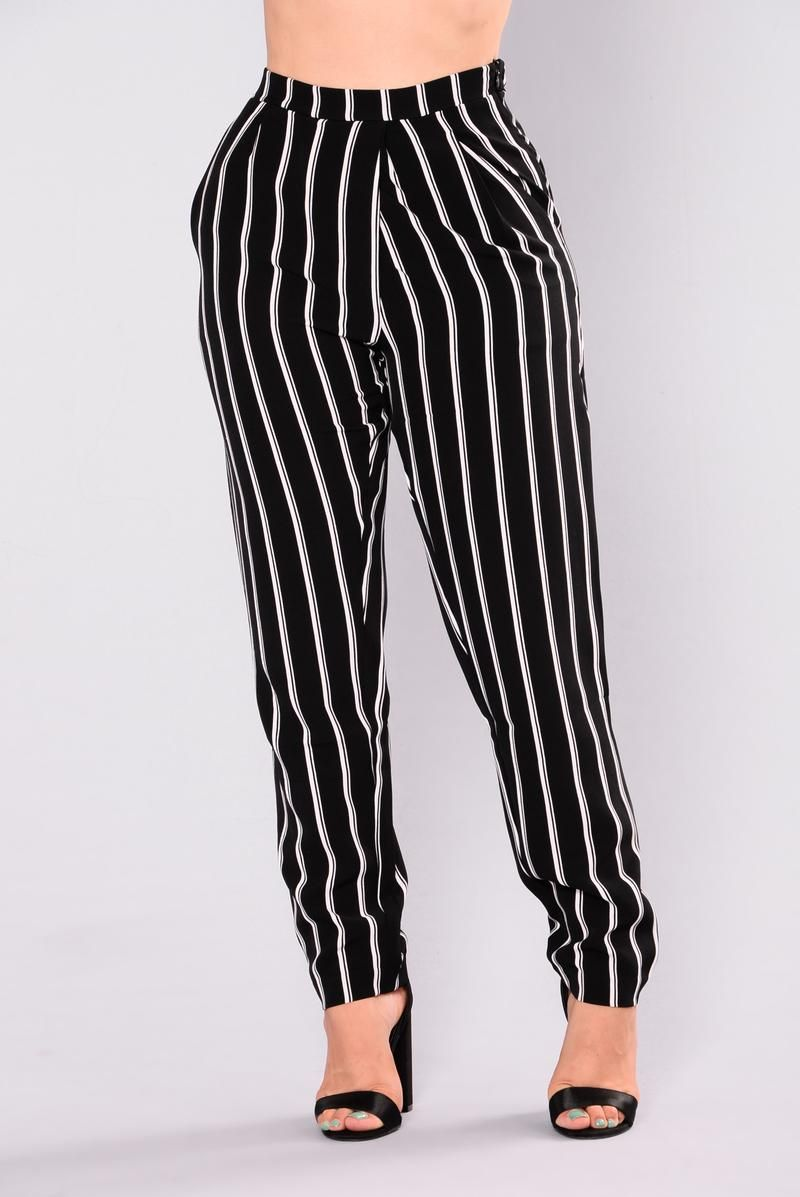 bfc904b03f3ea Tati Stripe Dressy Pants - Black/White | Dress the Part in 2019 ...