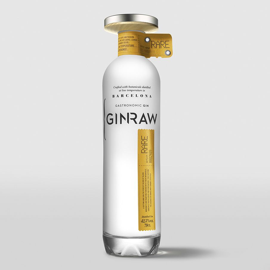 GINRAW Gastronomic Gin Barcelona - seriesnemo #packaging #inspiration