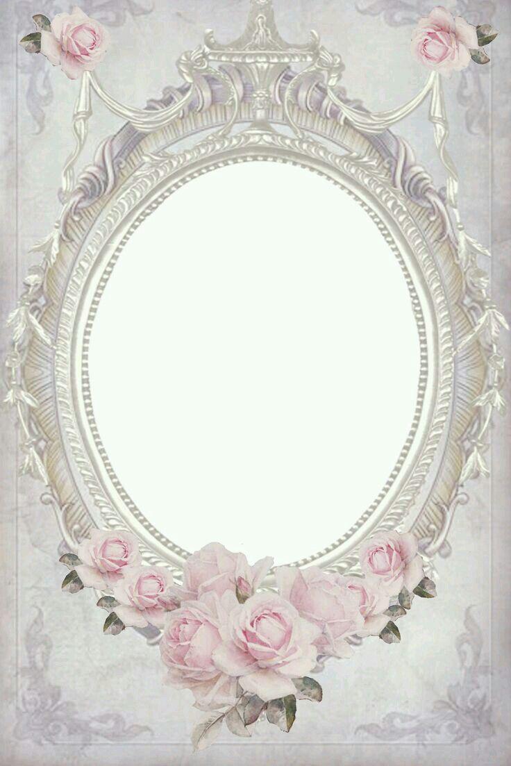 Pin By Tali Korlanski On Background Wallpaper Frames Paper Frames Flower Frame Vintage Frames