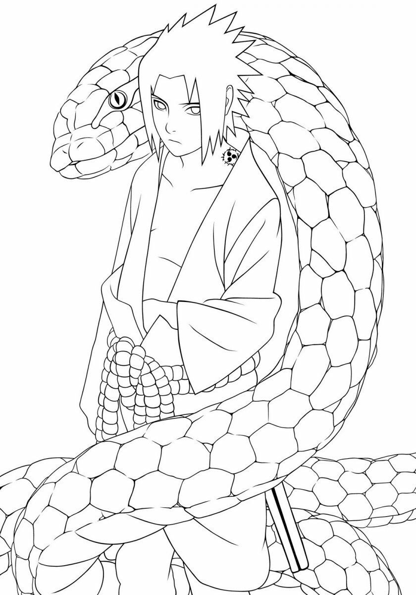 Uchiha Snake Coloring Pages Cute Coloring Pages Dragon Coloring Page [ 1200 x 840 Pixel ]