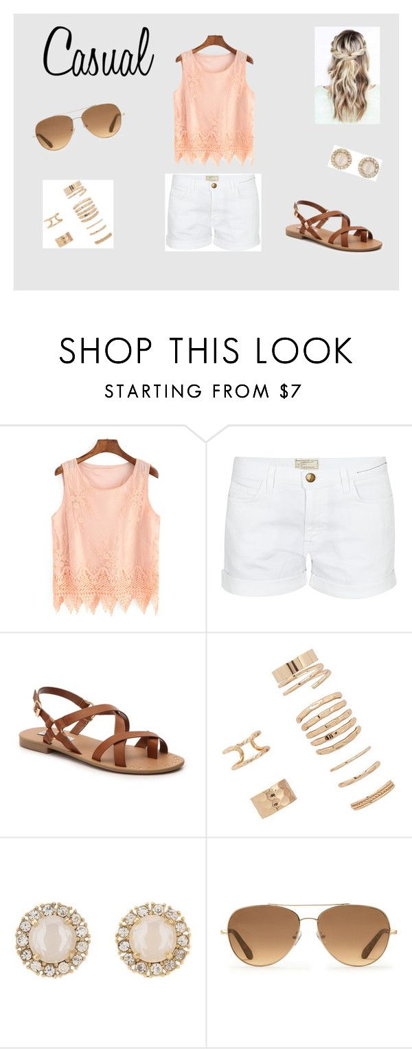 """""""Casual"""" by hannahgabby on Polyvore featuring Current/Elliott, Steve Madden, Forever 21, Kate Spade and Stella & Dot"""