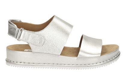a80012ed2 Clarks Alderlake Sun - Silver Metallic - Womens Casual Sandals ...