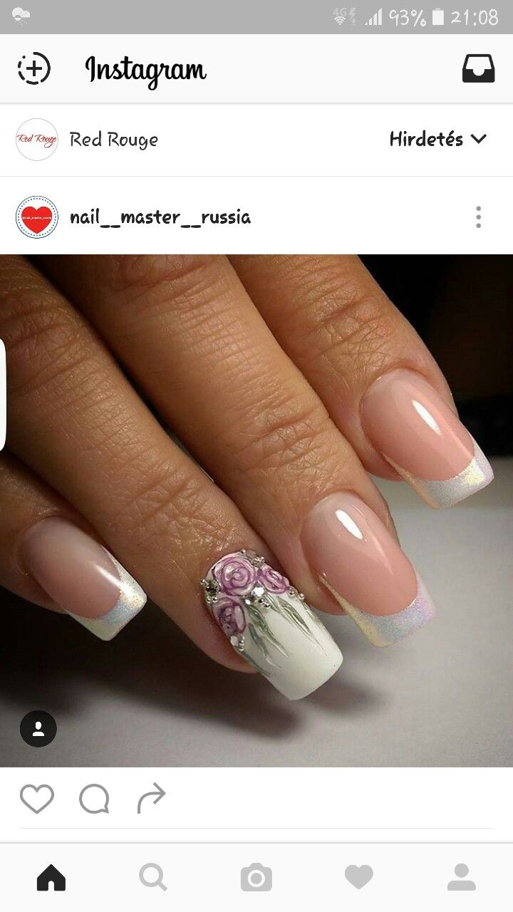Pin by Klise on Nail design | Pinterest | French nails, Spring nails ...