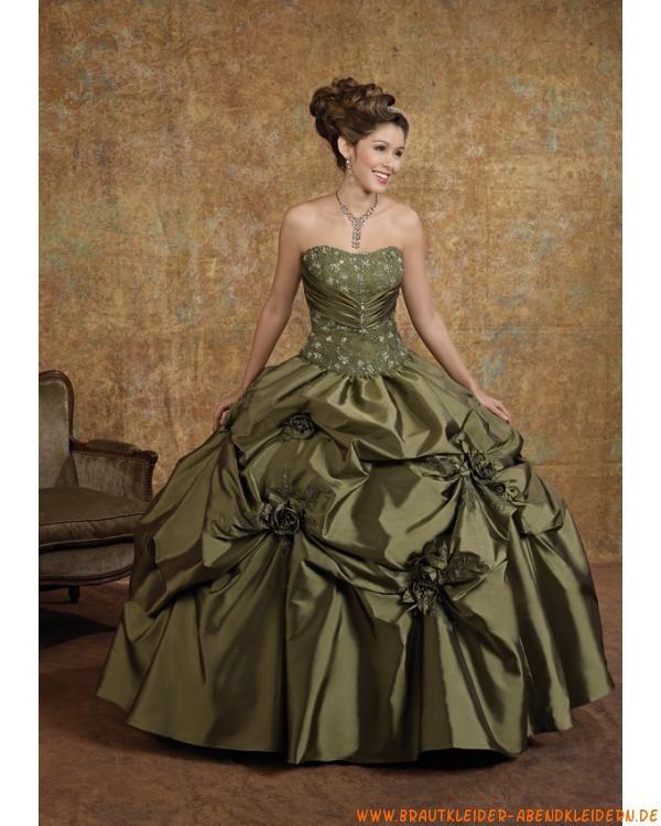Elegantes schönes Ballkleid für Prinzessin aus Taft mit Stickerei ...